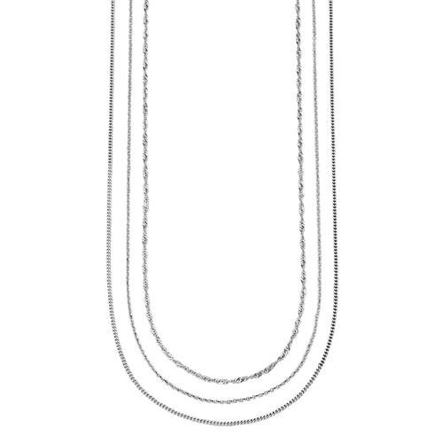 3tlg. Ketten-Set in Silber KLiNGEL Silberfarben