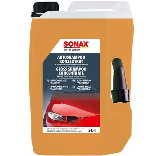 Sonax Autoshampoo Konzentrat 5l+waschhandschuh+2x Microfasertuch+trockentuch