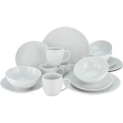 CreaTable Kombiservice Bistrot, (Set, 16 tlg.), Profi-Qualität weiß Geschirr-Sets Geschirr, Porzellan Tischaccessoires Haushaltswaren