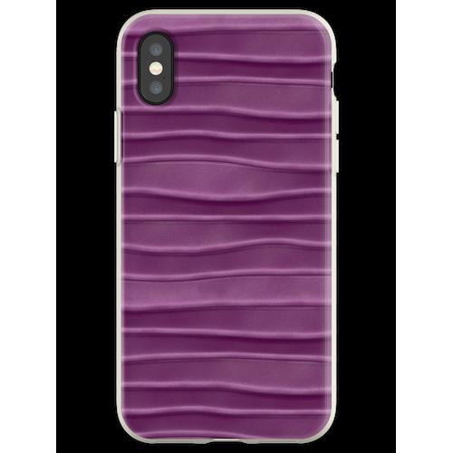 Lila, Seide, Satin, Stoff, Textur Flexible Hülle für iPhone XS