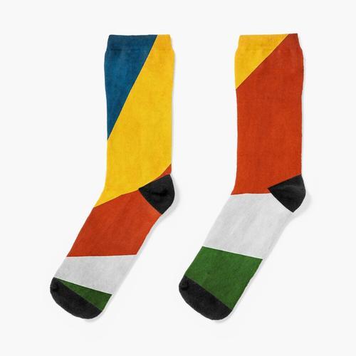 Seychellen | Seychellenfahne | Nationalflagge der Seychellen | Seychellen-Nationalflagge Socken
