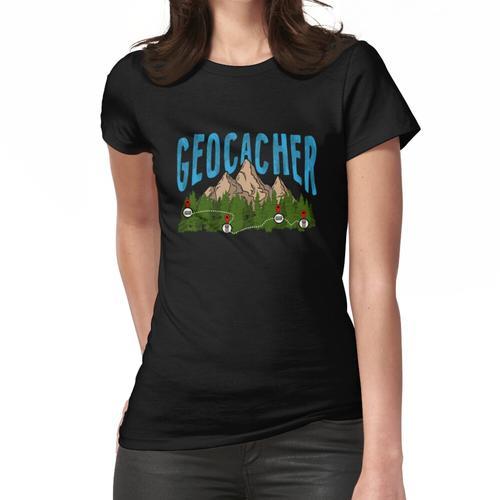 Geocache Berg Geocacher Geocaching GPS Geo Cachen Frauen T-Shirt