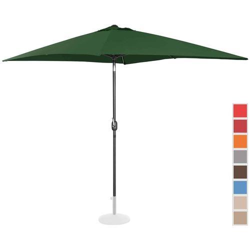 Sonnenschirm groß Gartenschirm (rechteckig, 200 x 300 cm, neigbar, grün) - Uniprodo