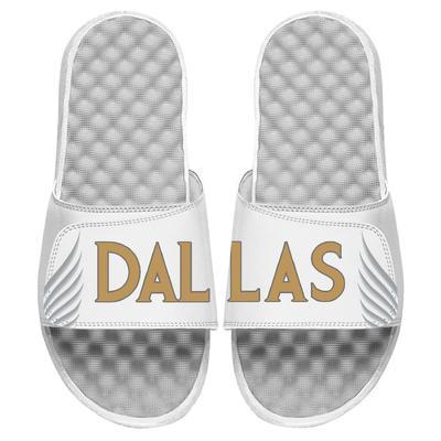 """Youth ISlide White Dallas Mavericks 2020/21 City Edition Jersey Slide Sandals"""