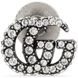 Crystal Double G Brooch - White ...