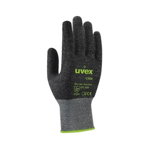 Unisex Schnittschutzhandschuhe »C300 dry« Größe 8 grau, UVEX