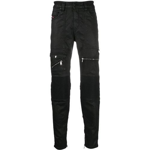 DIESEL Beschichtete 'D-Derrot' Skinny-Jeans