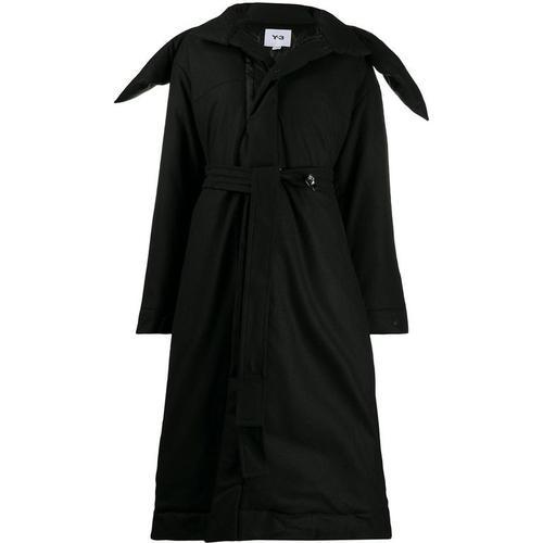 Y-3 Mantel mit weitem Kragen