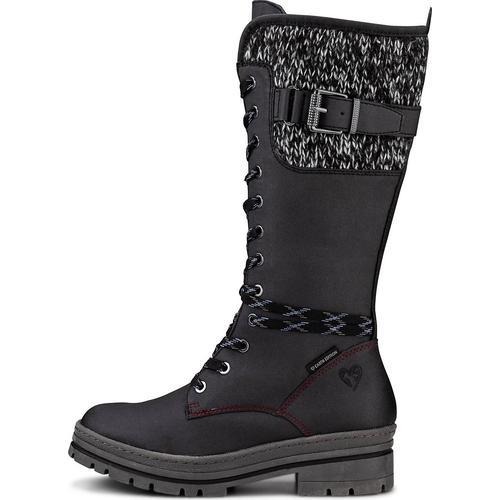 MARCO TOZZI Earth Edition, Sportliche Stiefel in schwarz, Stiefel für Damen Gr. 38