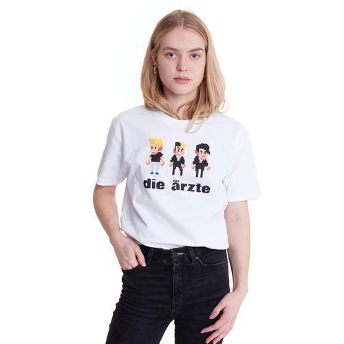 Die Ärzte - Pixel White - T - T-Shirts