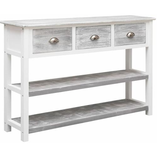 Topdeal Sideboard Antik-Grau 115 x 30 x 76 cm Holz 24704