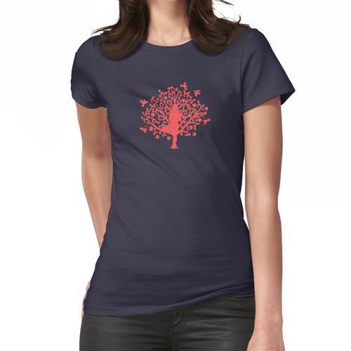 Korallenbaum Pose Frauen T-Shirt