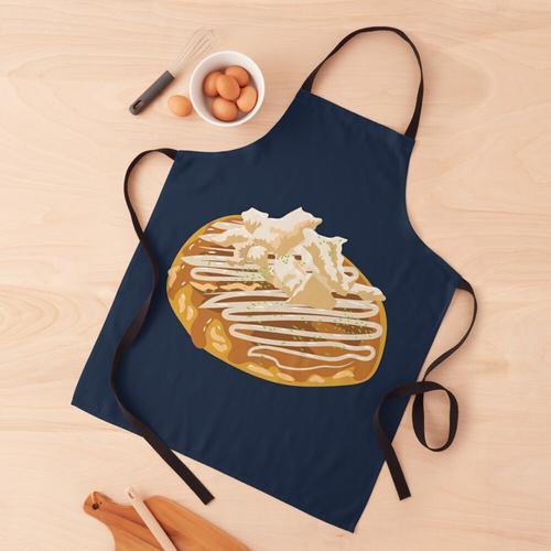 Japanischer Okonomiyaki-Pfannkuchen Schürze