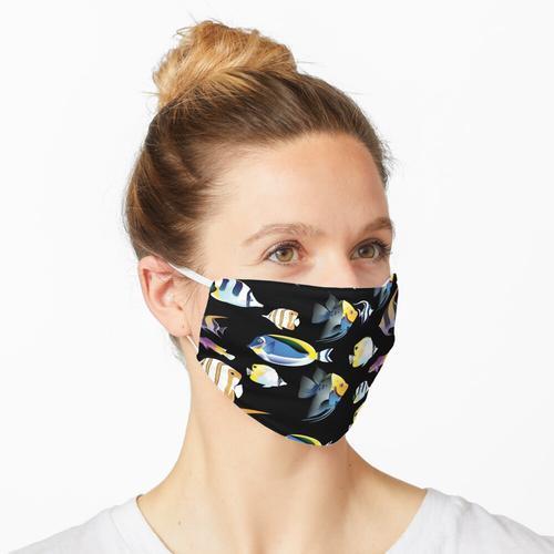 Tropisches Fischmuster-Aquarium Maske