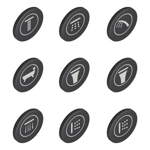 Grohe SmartControl Symbolkappen für Unterputzarmaturen 14077XH0