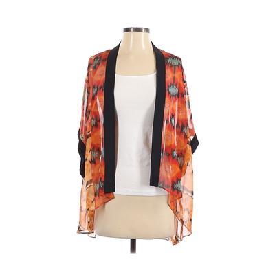 Cotton Candy Kimono: Red Print Tops - Size Small