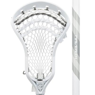 Maverik Charger Beginner Men's Complete Lacrosse Stick White/Grey