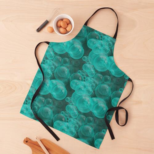 Kleine Aqua Seifenblasen Schürze