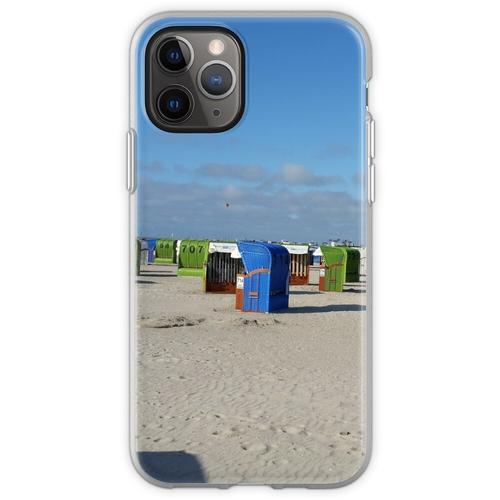 Nordsee Strand mit Strandkörben Flexible Hülle für iPhone 11 Pro