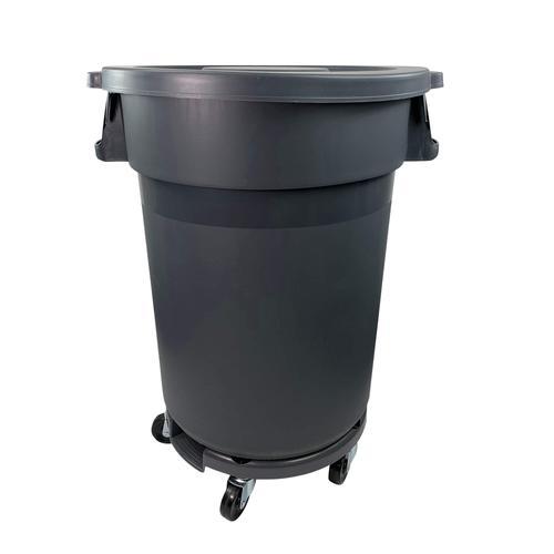 120 Liter Abfallbehälter Mülleimer SET Abfallcontainer Abfalleimer mit Rollen +