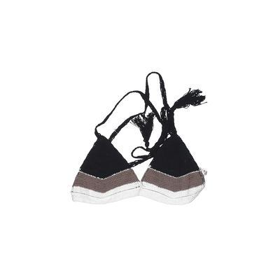 Vitamin A Swimsuit Top Black Halter Swimwear - Used - Size Small