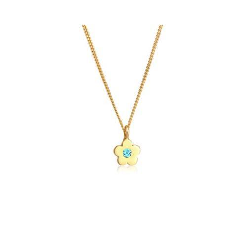 Elli Halskette Kinder Blume Kristalle 925 Silber Halsketten gold Mädchen Kinder