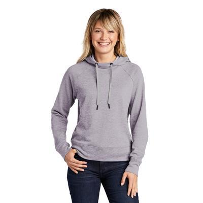 Sport-Tek LST272 Women's Lightweight French Terry Pullover Hoodie in Heather Grey size Medium   Cotton/Polyester Blend