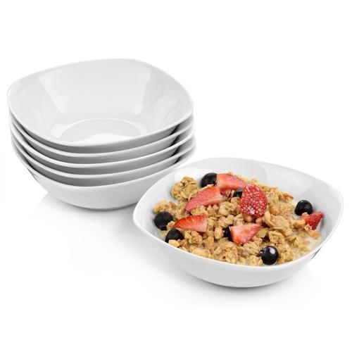 SÄNGER Frühstücks-Set Bilgola (6-tlg.), Porzellan weiß Frühstücksset Eierbecher Geschirr, Tischaccessoires Haushaltswaren Geschirr-Sets
