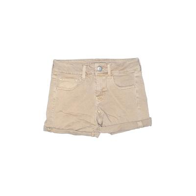 American Eagle Outfitters Denim Shorts: Tan Solid Bottoms - Size 2