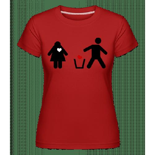 Herz Wegwerfen Logo - Shirtinator Frauen T-Shirt