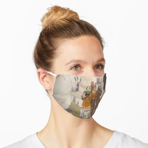 Gespenster Wandbild voll Maske