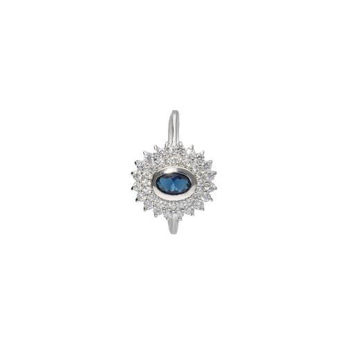 Smart Jewel Silberring »mit Zirkonia und dunkelblauem Kristallstein, Silber 925«