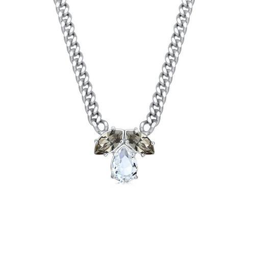 Elli Collierkettchen »Collier Tropfen Kristalle 925 Silber«