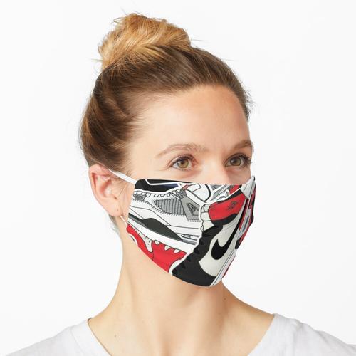 Lässige Aufkleber Maske