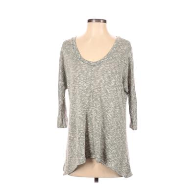 Sparkle & Fade Pullover Sweater: Ivory Print Tops - Size Small