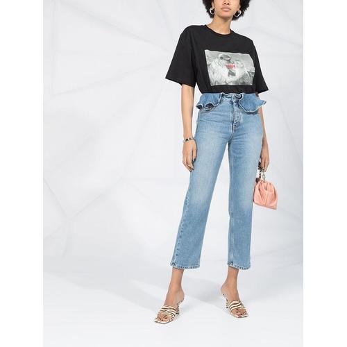MSGM T-Shirt mit Affen-Print