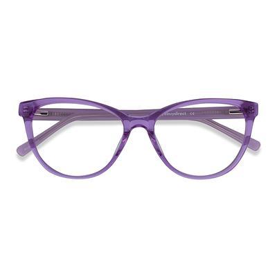 Female's Horn Clear Purple Acetate Prescription eyeglasses - EyeBuydirect's Sing