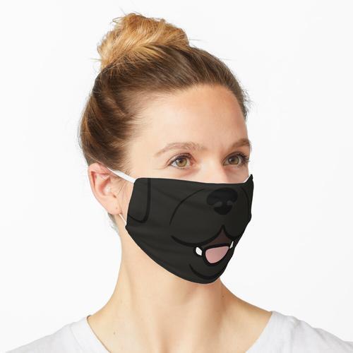 Schwarzes Laborgesicht Maske