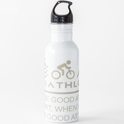 Triathlon - Triathlon Warum man bei einem Sport gut ist, wenn man um drei gut sein kan Wasserflasche