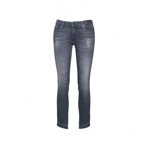 7 for all mankind Damen Pyper Crop Jeans Grau