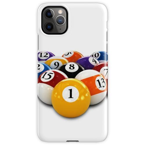 Billardtisch Billard oder Snooker Bälle mit Zahlen iPhone 11 Pro Max Handyhülle