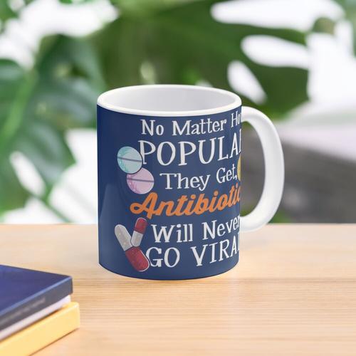 Funny Antibiotics Will Never Go Viral Mug