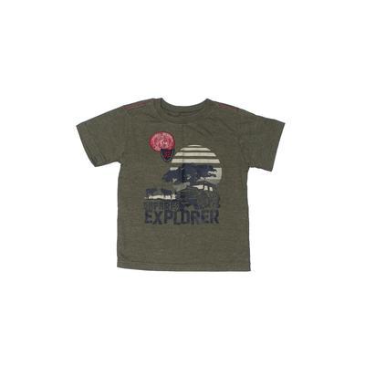 Z Boys Wear Short Sleeve T-Shirt: Green Solid Tops - Size 4Toddler
