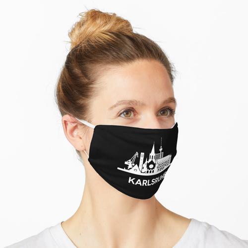 Karlsruher Skyline, weiß Maske