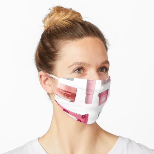 Rosa Hautpflege Maske