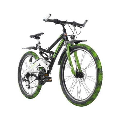 Mountainbike Fully ATB Crusher Mountainbikes, Rahmenhöhe: schwarz