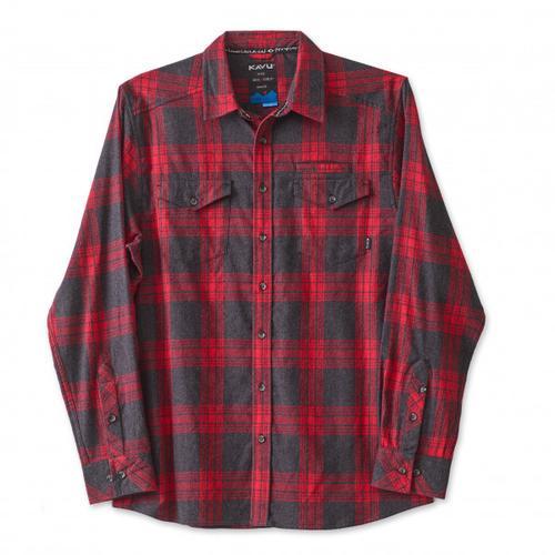 KAVU - Lorenzo - Hemd Gr M;S rot/schwarz