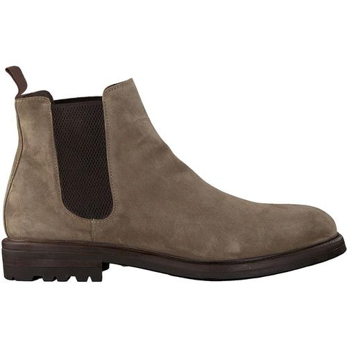Mazzeltov Taupe Chelsea Boots 4146
