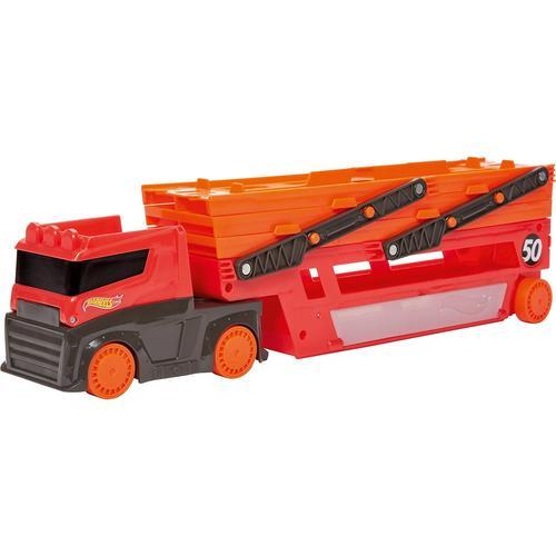 Mattel Hot Wheels Mega-Truck für Spielzeugautos Spielzeug LKW mit Platz für 50 Autos