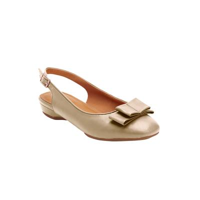 Wide Width Women's The Nikki Sling by Comfortview in Gold (Size 8 1/2 W)